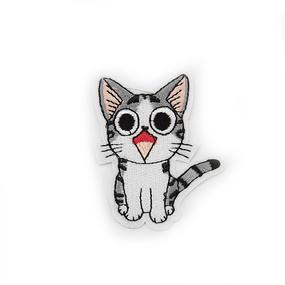 Аппликация мяукающий котёнок 5,5*6,5см фото