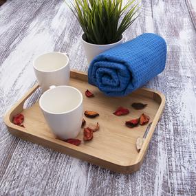 Полотенце вафельное банное Премиум 150/75 см цвет 842/3 синий фото