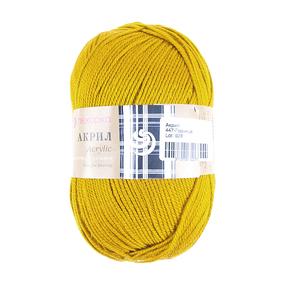 Пряжа для вязания ПЕХ Акрил 100гр/300м цвет 447 горчица фото