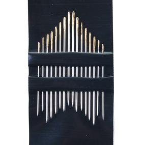 Иглы для вышивания и шитья PONY 04362 размер 5-10 уп 16 шт ушко иглы золотое фото