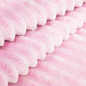 Маломеры Плюш Минки Полоса Китай 180 см цвет розовый 0.6 м фото