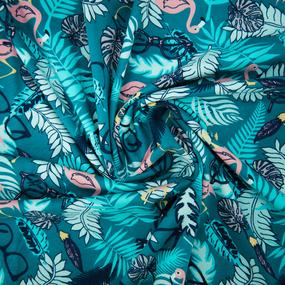 Ткань на отрез кулирка R7112-V2 Тропический остров фото