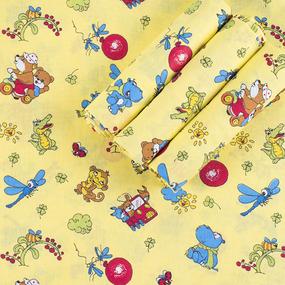 Набор детских пеленок бязь 4 шт 90/120 см 383/4 Зоопарк цвет желтый фото