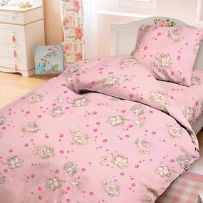 Простыня на резинке бязь детская 1285/2 Мамонтенок розовый 60/120/12 см фото