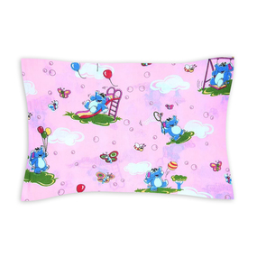 Наволочка бязь детская 315/2 Слоники розовый 40/60 см фото