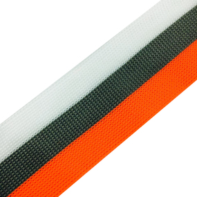 Лампасы №66 белый серый оранжевый 3,5см уп 10 м фото