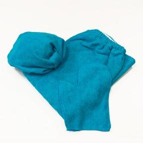Набор для сауны женский цвет бирюза фото