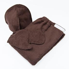 Набор для сауны мужской цвет коричневый фото