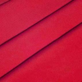 Ткань на отрез полулен 150 см 70050 цвет красный 2 фото