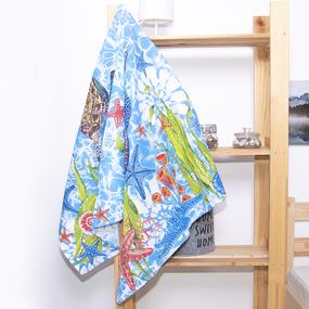 Полотенце вафельное пляжное 3032-1 Черепаха 150/75 см фото