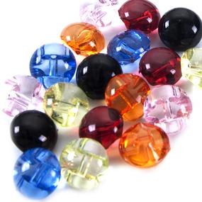 Пуговицы Блузочные/прозрачные 12 мм цвет бордовый упаковка 24 шт фото