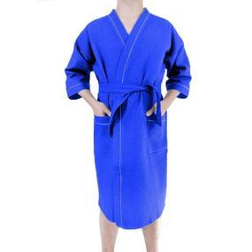 Халат мужской вафельный синий премиум р 52 фото