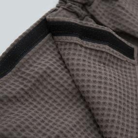 Вафельная накидка на резинке для бани и сауны Премиум мужская с широкой резинкой цвет 969 коричневый фото