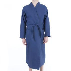 Халат мужской вафельный шалька темно-синий р 44 фото
