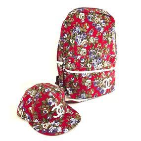 Школьный рюкзак + бейсболка Цветы фото