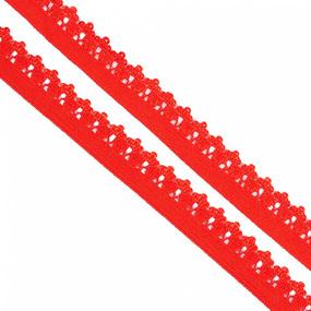 Резинка TBY бельевая 12 мм RB01162 цвет F162 красный 1 метр фото