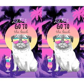 Вафельное полотно набивное 150 см 3090-1 Майами фото