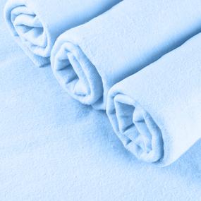 Набор детских пеленок фланель 4 шт 75/120 см Голубой фото