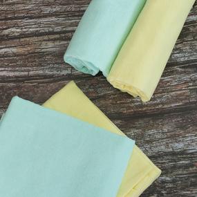 Набор детских пеленок фланель 4 шт 75/120 см Желтый/Фисташковый фото