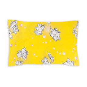 Наволочка бязь детская 1285/5 Мамонтенок желтый 40/60 см фото
