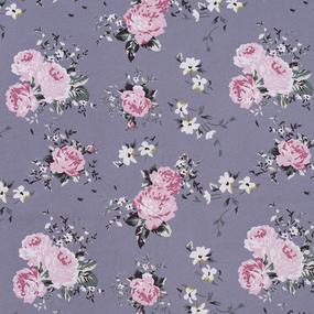 Маломеры кулирка Цветы на темно-сером R9013-V15 0.8 м фото