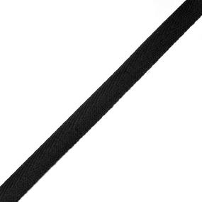 Тесьма киперная 10 мм хлопок 1,8г/см арт.08с-3495 цв.черный 005 фото