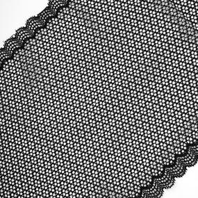 Кружево эластичное 18,5см черный 2274 уп 10 м фото
