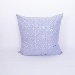 Подушка Лебяжий пух Листочки на голубом 50/50 фото