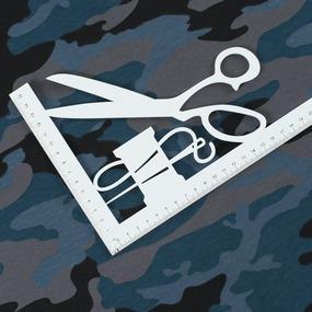 Ткань на отрез кулирка Камуфляж R4015-V15 цвет петроль фото