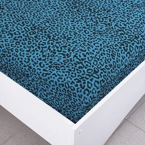 Простыня трикотажная на резинке Премиум цвет леопард2 120/200/20 см фото