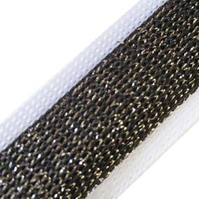Лампасы №102 белый черный люрекс серебро 2см 1 метр фото