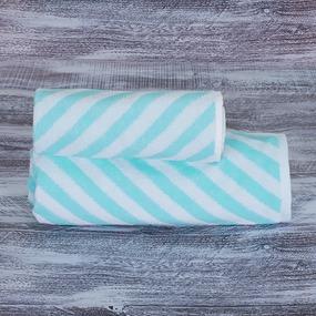 Полотенце махровое МХ-42 Круиз диагональ 50/90 см цвет бирюзовый фото