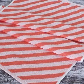 Полотенце махровое МХ-42 Круиз диагональ 50/90 см цвет коралловый фото
