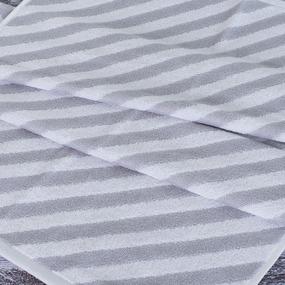 Полотенце махровое МХ-42 Круиз диагональ 50/90 см цвет серебро фото