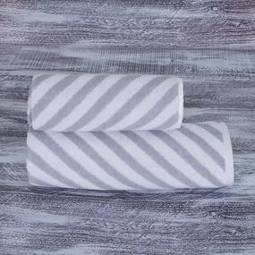 Полотенце махровое МХ-42 Круиз диагональ 70/140 см цвет серебро фото