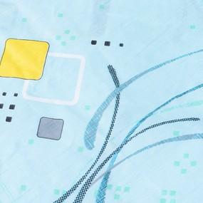 Постельное белье из бязи ГОСТ 319/3 Вальс голубой 1.5 сп с 1-ой нав. 70/70 фото