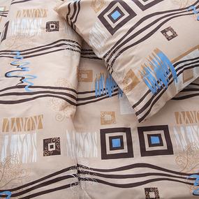 Постельное белье из бязи ГОСТ 348/3 Пикассо цвет бежевый 1.5 сп с 1-ой нав. 70/70 фото
