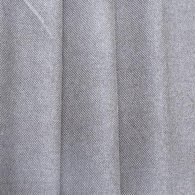 Ткань на отрез Blackout лен рогожка 508-34 светло-серый фото