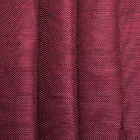 Ткань на отрез Blackout лен рогожка 508-19 бордовый фото