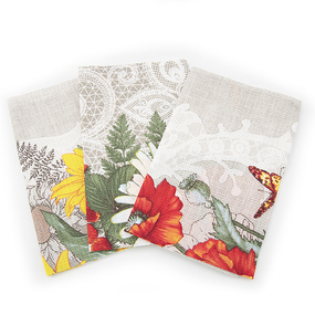 Набор вафельных полотенец 3 шт 35/70 см 3040-1 Подсолнухи фото