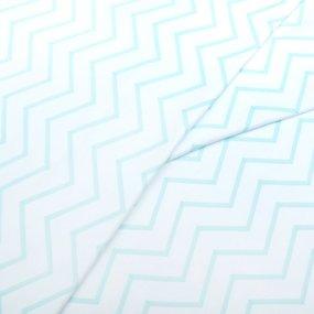 Ткань на отрез интерлок пенье Зиг-заг светло-мятный 5705-17 фото