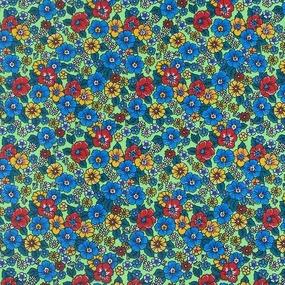 Маломеры бязь плательная 150 см 1609/4 цвет салат 1.3 м фото