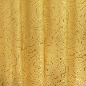 Портьерная ткань 150 см Роза цвет золото фото