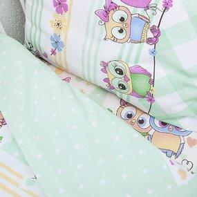 Постельное белье в детскую кроватку 90121 бязь ГОСТ с простыней на резинке фото
