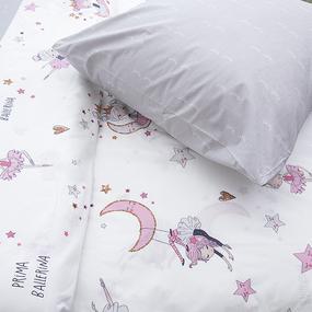 Детское постельное белье из поплина 1.5 сп Балеринки 3051 фото