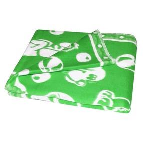 Одеяло детское байковое жаккардовое 140/100 см зеленый фото