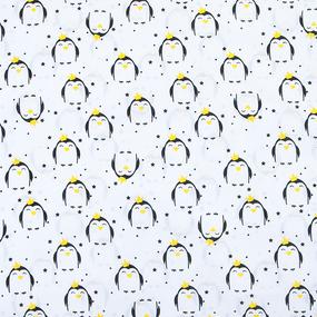 Маломеры бязь плательная 150 см 441/1 Королевский пингвин 1 м фото