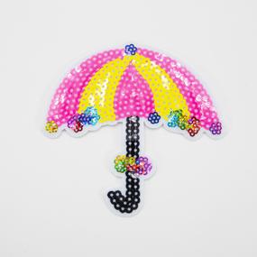 Аппликация Зонтик розовый 10*11см фото