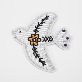 Аппликация птичка и цветок 9*10см фото