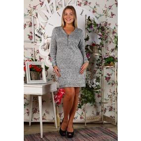 Платье Вероника серое Д431 р 56 фото